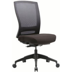 Buro Mentor Mesh Chair Chair No Arms Nylon Base Black Fabric Seat Mesh Back