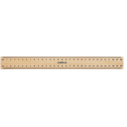 Celco Polished Metal Edge Ruler Wooden 30cm