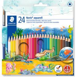 Staedtler Noris Aquarell Watercolour Pencils Assorted Pack of 24