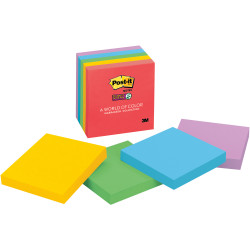 POST-IT SUPER STICKY NOTES 654-5SSAN 76mm x 76mm Marrakesh 450 Notes