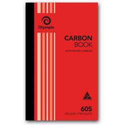 OLYMPIC CARBON BOOK 605 Triplicate 200mm x 125mm 100 Leaf