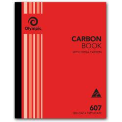 OLYMPIC CARBON BOOK 607 Triplicate 250mm x 200mm 100 Leaf
