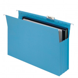 Marbig Suspension File Expanding With Tabs & Inserts Blue Pack Of 20