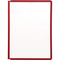 Durable Sherpa Display System Panels A4 For Sherpa Extension Module Red Pack Of 5