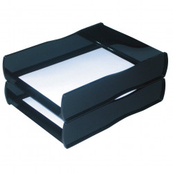 ESSELTE NOUVEAU DOCUMENT TRAY Black