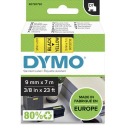 DYMO D1 LABEL CASSETTE TAPE 9mm x 7m Black on Yellow