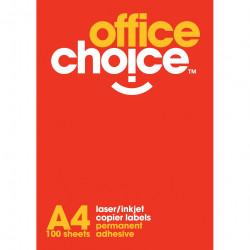 Office Choice Laser Copier & Inkjet Labels 14UP 99.1x38.1mm