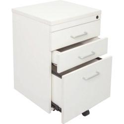 RAPID SPAN MOBILE PEDESTAL 3 Drawer White