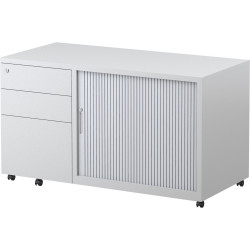 Steelco Trimline Mobile Caddy 615Hx1050Wx500mmD Left Hand Drawer Orientation White