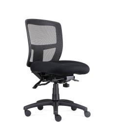 Ergo Task Medium Seat Chair Black Mesh High Back Black Fabric Seat Black Mesh