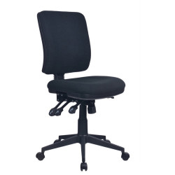 Aviator  High Back Task Chair No Arms With Seat Slide Black Fabric