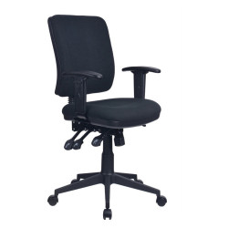 Aviator  High Back Task Chair With Arms With Seat Slide Black Fabric