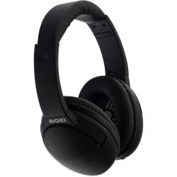 Moki Nero Headphones With Mic Black