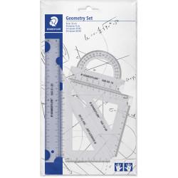 Staedtler Geometry Set Ruler, Protractor, Set Square x2