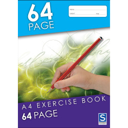 Sovereign Exercise Book A4 8mm Ruled 64 Page